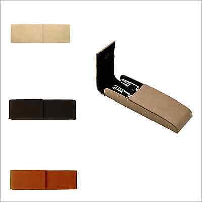Leather Double Pen Case, Hard Pen Case, Pencil Case, Pen Holder