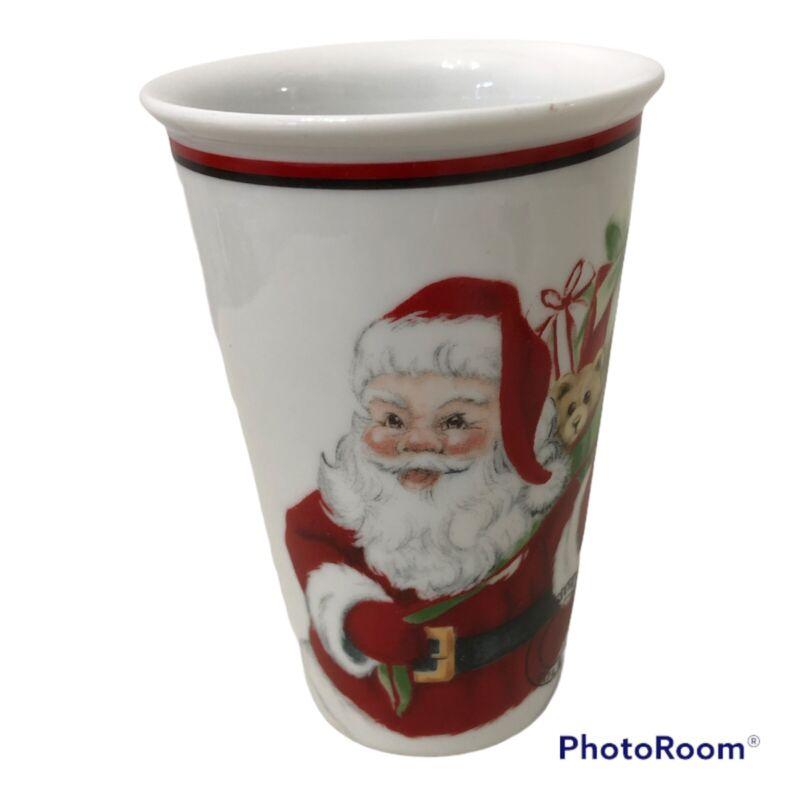 Fitz and Floyd Christmas Letters to Santa Merry Christmas Travel Mug No Lid