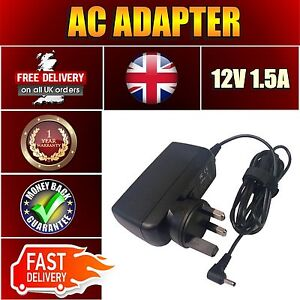 FOR ACER ASPIRE SWITCH 10 SW5 12V 1.5A 18W UK MAINS AC APD ADAPTER CHARGER