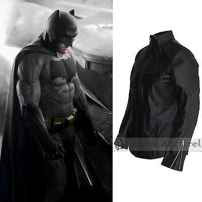 Affleck Batman Costume (Batman Vs Superman Costume Ben Affleck Mens Batman Black Leather)