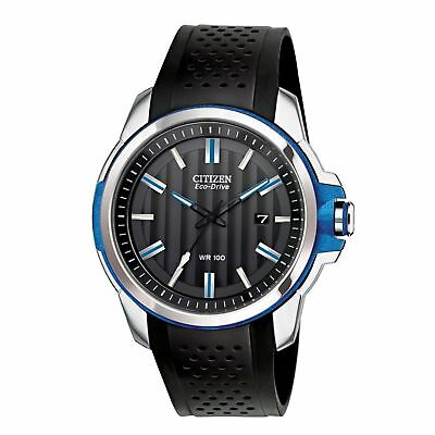 Citizen Eco-Drive Men's AW1151-04E AR Blue Accents Black Poly Band 44mm Watch