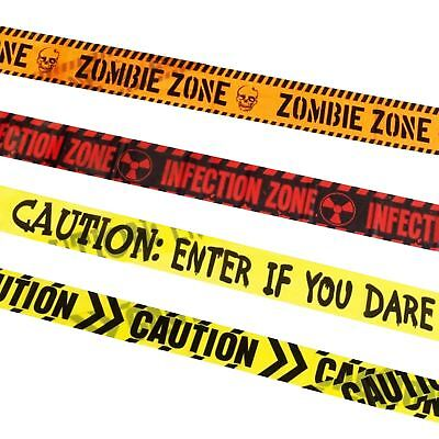 Halloween Zombie Tape Warning Bio Hazard Party Banner Caution Decoration Bunting (Halloween Party Banners)
