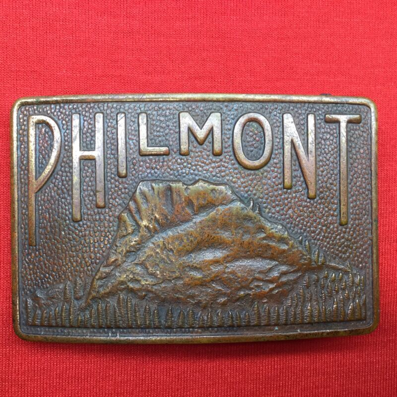 Boy Scout Philmont Brass Belt Buckle Tooth Of Time