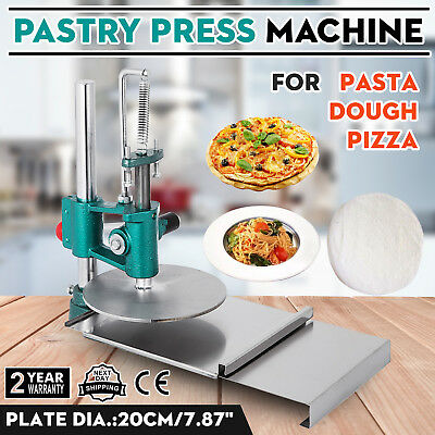 Pizza Dough Pastry Manual Press Machine Metal Plate Diameter 20cm 7.8 Inch Usa