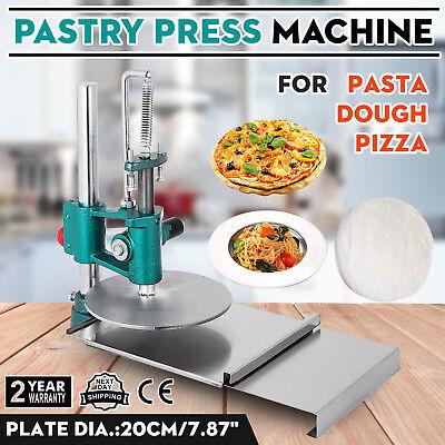 Pizza Dough Pastry Manual Press Machine Metal Plate Diameter 20cm 7.8 Inch Usa