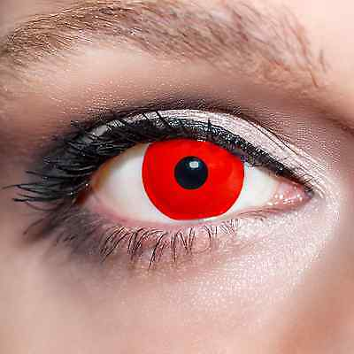 Rote Kontaktlinsen rot farbige Motivlinsen Augen Funlinsen Blut Red (Halloween Rote Augen Kontakte)