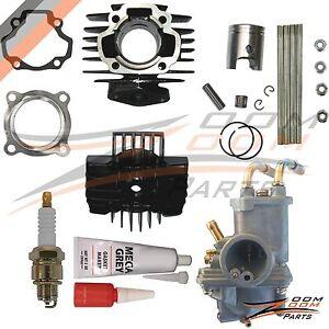 Yamaha-PW-50-PW50-Carburetor-Cylinder-Piston-Ring-Gasket-Top-End-Kit-1981-2009