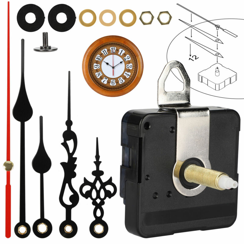 Wall Clock Quartz Movement Mechanism Hands Repair DIY Replacement Tool Part Kit