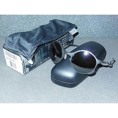 b4facb317a New Blemish Oakley Tailend Sunglasses Titanium Black Iridium Round Wire  Tail End