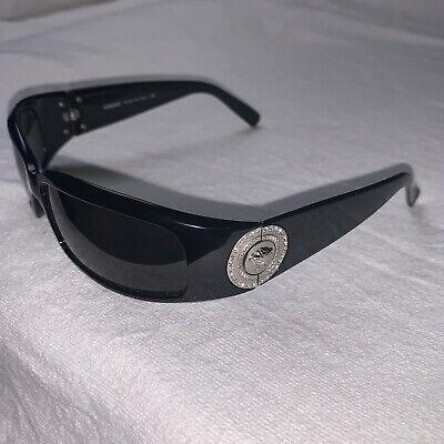 VERSACE 4044-B Ltd. Edition Medusa Sunglasses Black W/Silver Coin Grey W/COA EUC