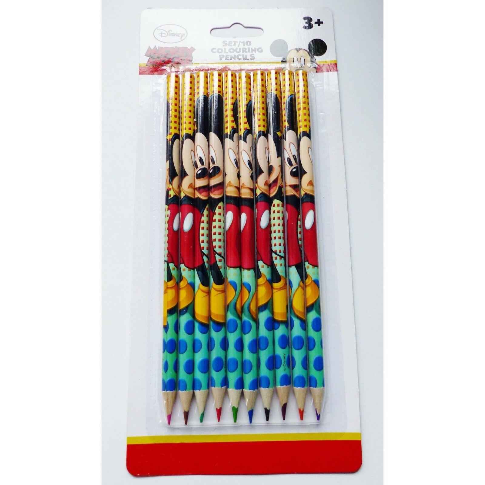 Set de 10 crayons de couleur MICKEY MOUSE