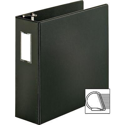 Business Source D-ring Binder Wlabel Holder Hvy-dty 4 Black 33117