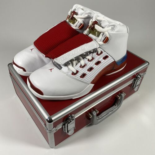 Vintage Original Nike Air Jordan 17 XVII Basketball Shoes Varsity Red Size 9.5