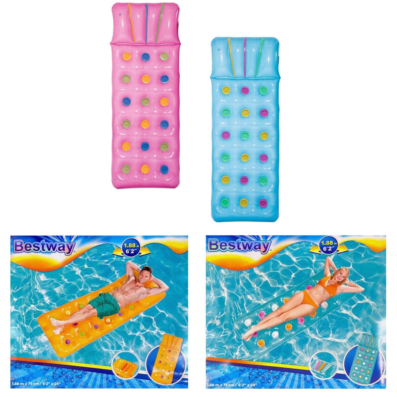 Bestway 188x71cm Luftmatratze 4 Farben Solarmatratze Pool Liege Wasser Matratze