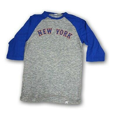 New York Mets Majestic Men's 3/4's Sleeve Blue/Gray