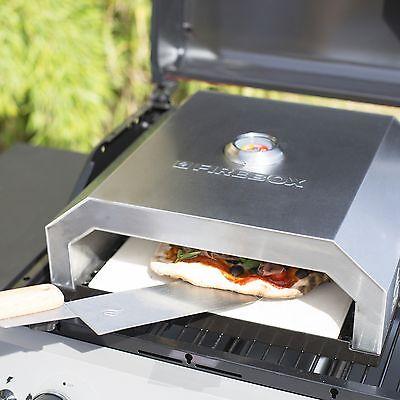 La Hacienda Firebox BBQ Pizza Oven - Works on Gas or Charcoal BBQ's