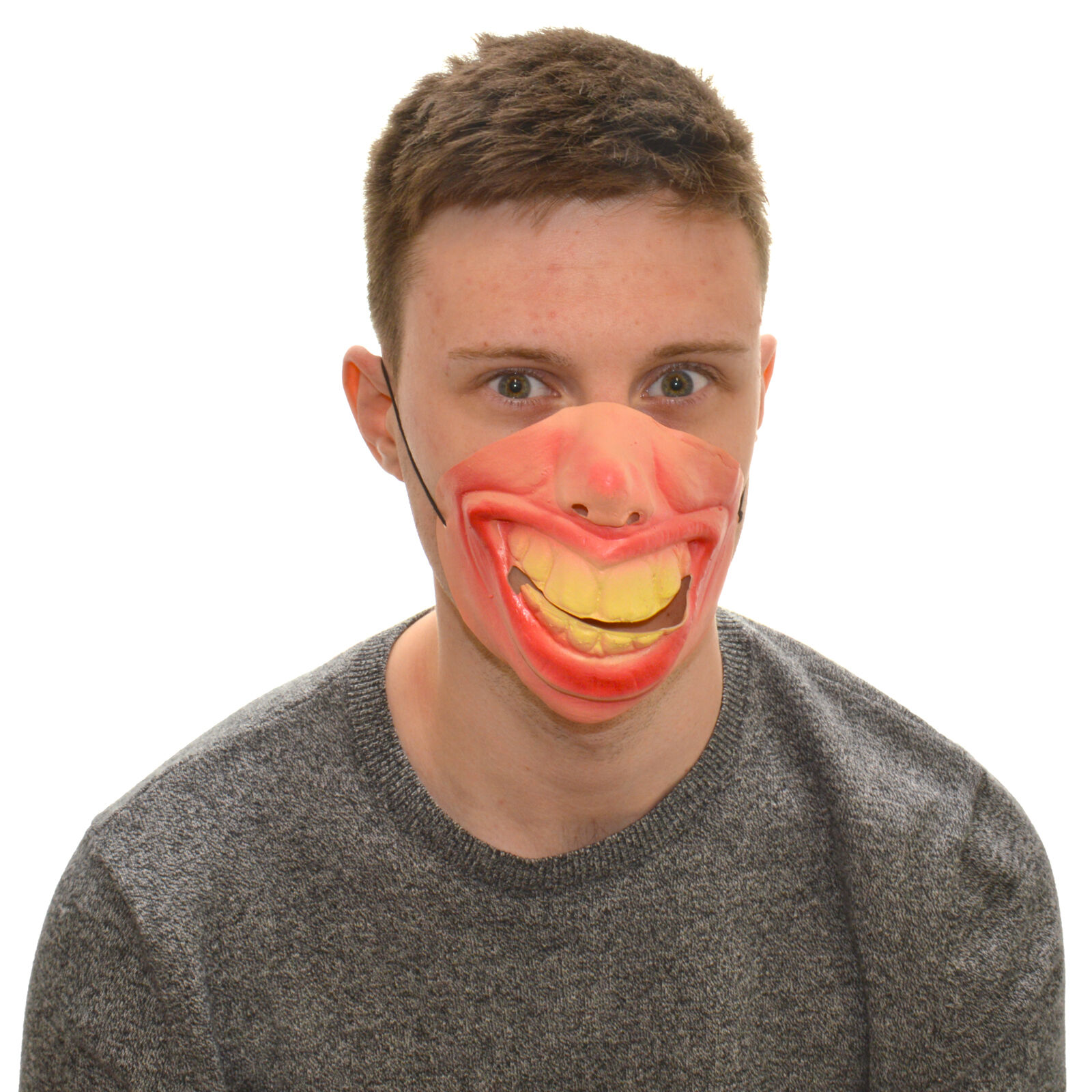 Half Face Chicken Funny Fancy Dress Latex Mask For Kids /& Adults Halloween
