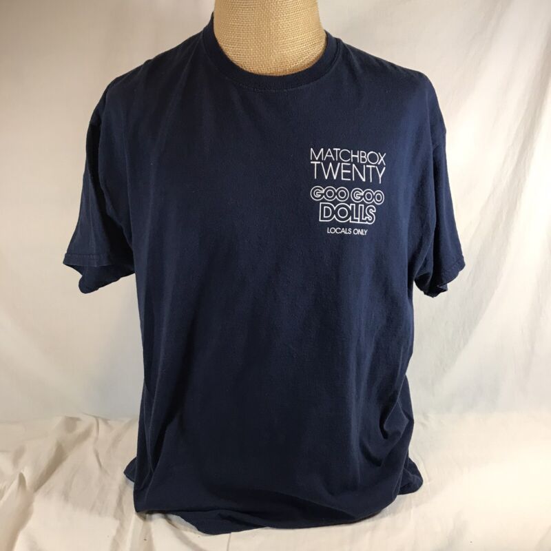 MatchBox Twenty Goo Goo Dolls Locals Only Crew Shirt XL Blue Tour Concert