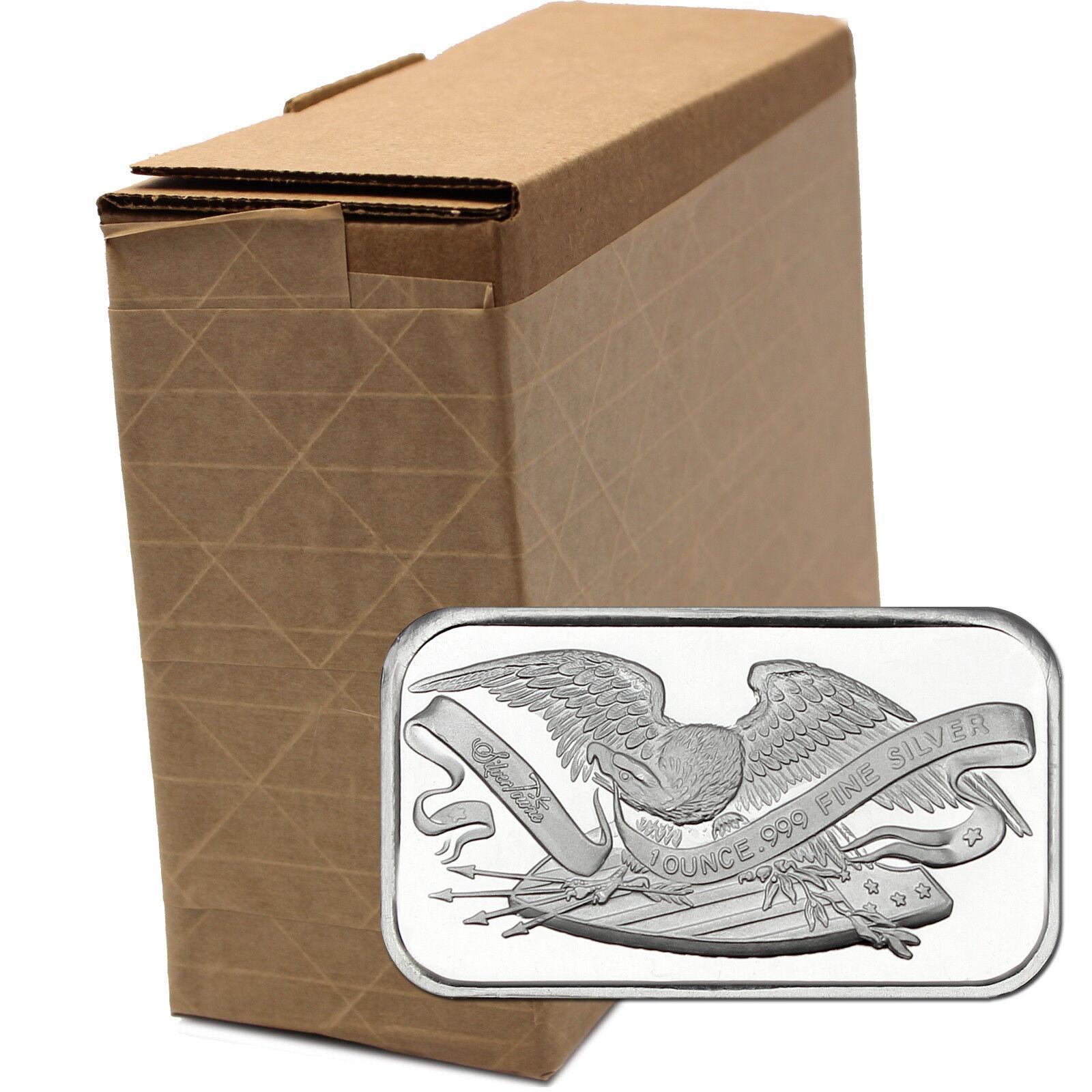 Retro SilverTowne Eagle & Shield 1oz .999 Fine Silver Bar LOT of 100