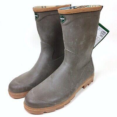 Le Chameau Taupe Brown Men's Bon Anjou 2 Rubber Mid Calf Boots Size 47 US - Le Chameau Rubber Boots