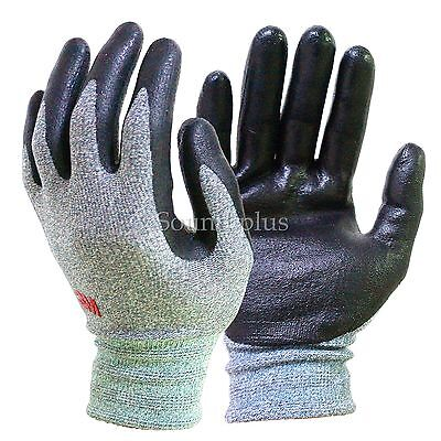 (2 Pair)(size Large) NEW 3M Super grip 200 Nitrile Coated Work Garden Gloves