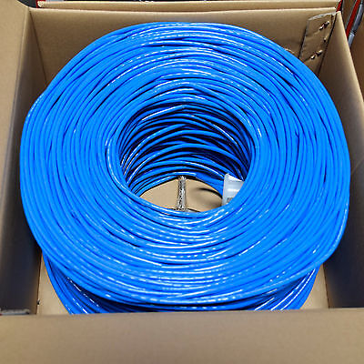 CAT5e CABLE UTP 1000FT SOLID WIRE BULK ETHERNET LAN NETWORK CAT5e RJ45 BLUE Cat5e Solid Utp Network Cable
