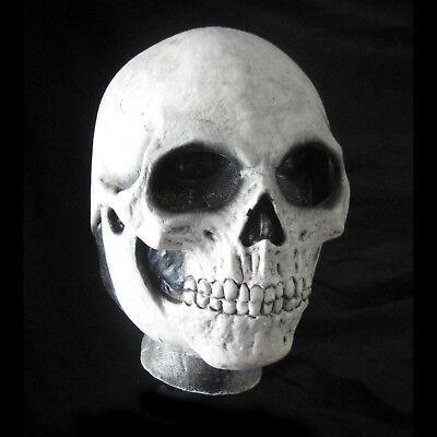 Totenkopf Skelett White Death Reaper Knochen Gruseliges Kostüm Latex Halloween
