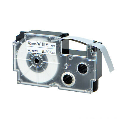 1pk Compatible With Casio Xr-12we Black On White Label Tape For Ez Kl-60 12mm