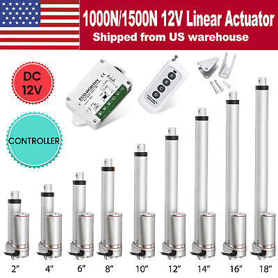 12v 2-18 Inch 220lb330lbs Electric Linear Actuator Heavy Duty Putter Motor Us