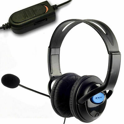 Headset Wired Headphones Microphone Mic Volume Control for Computer Laptop PC