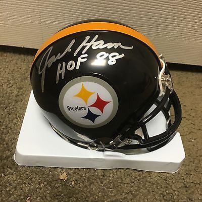Jack Ham Signed Autographed Pittsburgh Steelers Mini Helmet HOF 88