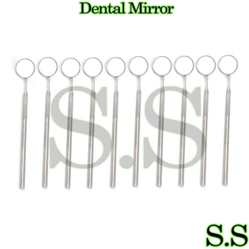 12 pcs Dental Mouth Mirror #5 w/Handle Dental Instrument