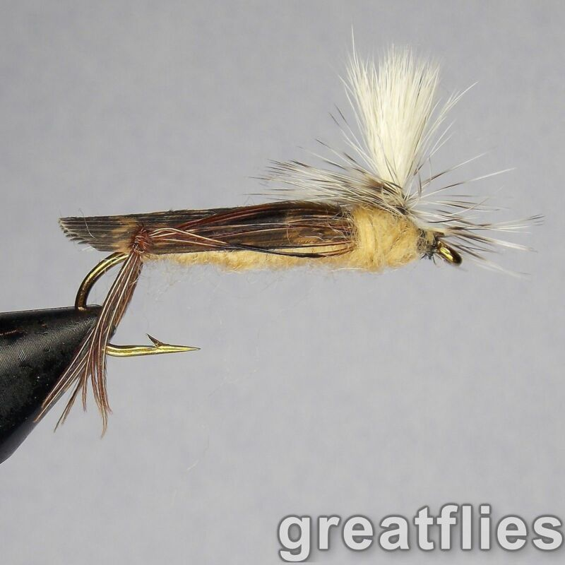 1 dozen (12) - Para Hopper (Parachute Grasshopper) - TAN