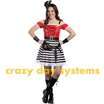 Captain Cutie Pirate Costume Size Small 5/7 Teen Girl Sassy Pirate Halloween - Halloween Costume Teen Girl