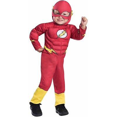The Flash Muscle Chest Toddler 3T-4T Halloween Costume Rubie's - Cheap Infant Toddler Halloween Costumes