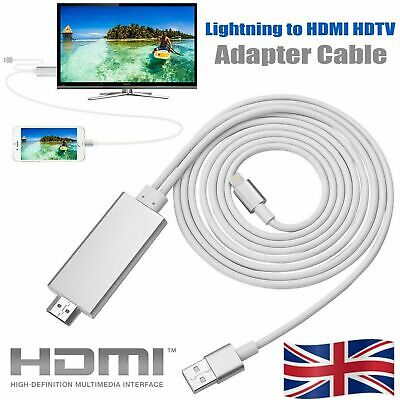 Lightning to HDMI Cable 2M TV AV Adapter Charger For iPad Air iPhone 11 X XS 8 7