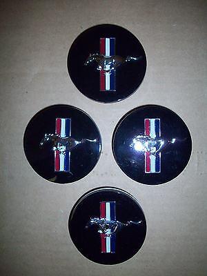 1999 2000 2001 2002 2003 2004 MUSTANG BULLITT MACH 1 CENTER CAPS 4 PIECE SET NEW 2004 Mustang Bullitt Wheels