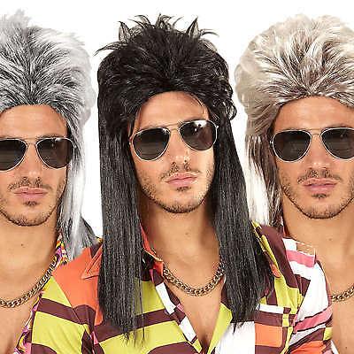 Perücke für Männer / Herren (lange Haare) Blond, Schwarz und Grau ( Kult (Schwarze Perücken Für Männer)