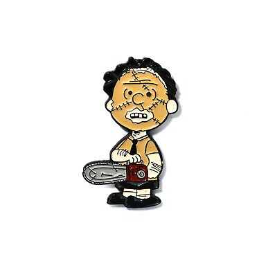 Charlie Brown Pin Texas Chainsaw Massacre Leatherface Novelty Halloween Horror ](Halloween Chainsaws)
