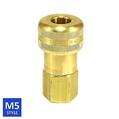 Foster 5 Series Brass Quick Coupler 1/2 Body 1/2 NPT Air Hose and Water Fittings