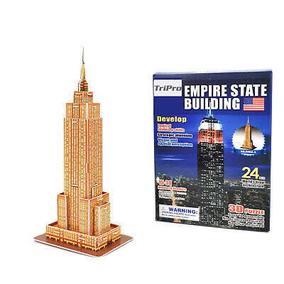TriPro 3D Jigsaw Puzzle Worlds Greatest Architecture : USA Empire State Building