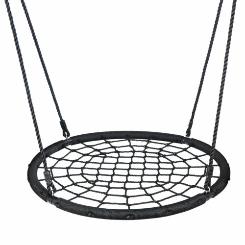 """48"""" Spider Web Tree Swing Net For Kids Adjustable Height Max Weight 600Lbs Outdoor Toys & Structures"""