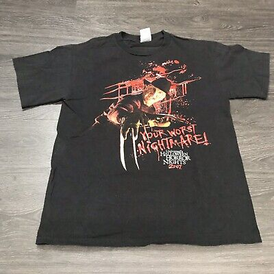 Freddy Krueger Universal Halloween Horror Nights 2007 T-Shirt Men's M Movie