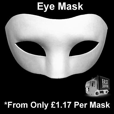 Face Masks Plain White Eye Mask Adult Child Kids Masquerade To Paint - Half Masks To Decorate