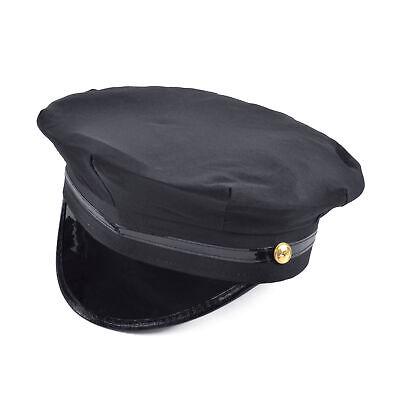 Herren Chauffeur Schwarz Spitz Fahrer Hut Militär Damen - Chauffeur Kostüme