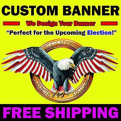 6' x 8' Full Color Custom Banner 13 oz. Matte Vinyl
