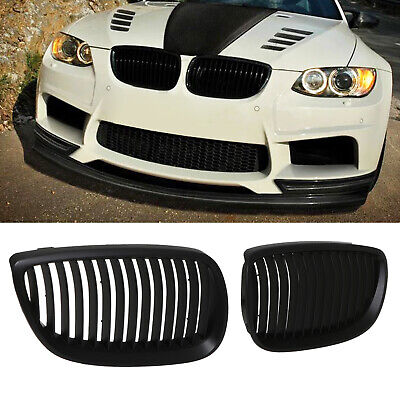 BLACK FRONT SPORT RADIATOR KIDNEY GRILL GRILLE PAIR FOR BMW 3 SERIES E92 06-13
