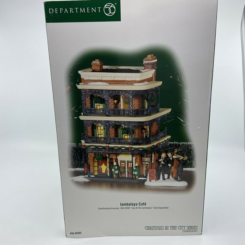 """Dept 56 59265 Christmas In The City """" Jambalaya Café"""" New In Box"""