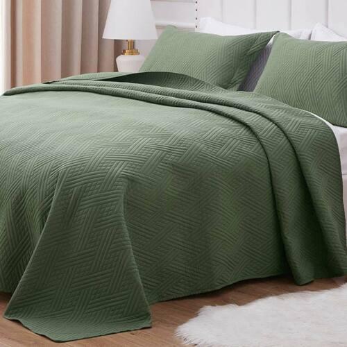 Quilt Set Comforter Bedding Cover Microfiber Bedspread Cover