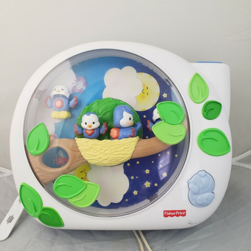 Fisher Price Flutterbye Dream Birds Lullaby Mobile Projector Crib Soother Music